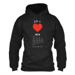 FALL IN LOVE BLACK HOODIE
