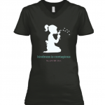 KINDNESS IS CONTAGIOUS BLACK TEE SHIRT