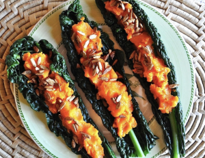 https://applesundermybed.com/2013/02/17/kale-tacos-with-carrot-ginger-spread-and-toasted-sunflower-seeds/