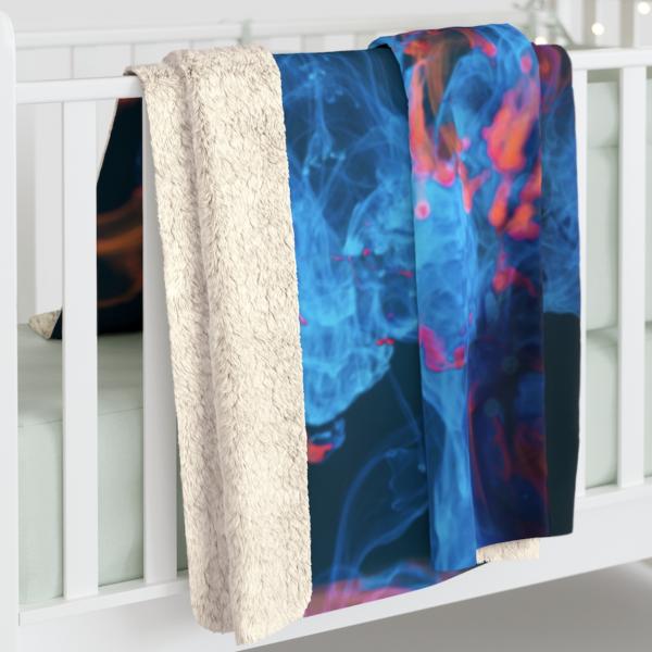 Blue Smoke Sherpa Fleece Blanket