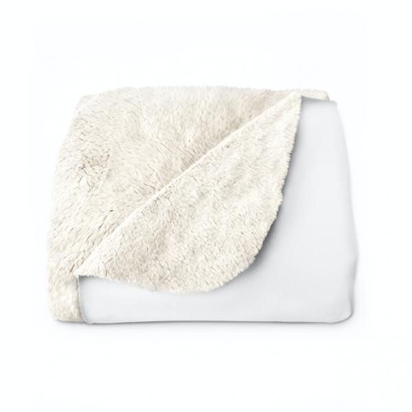 White Sherpa Fleece Blanket