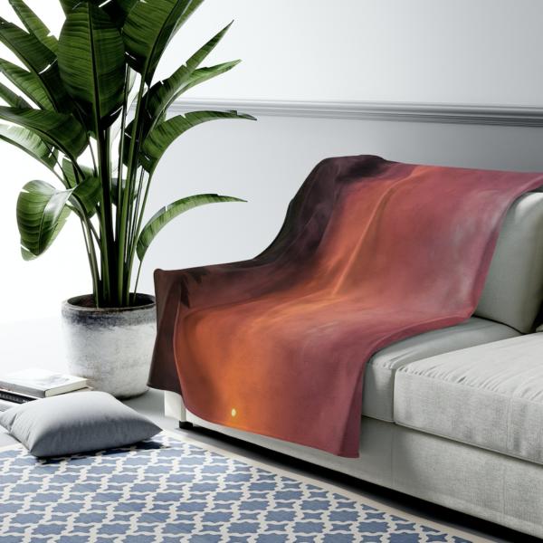 Red Haze Velveteen Plush Blanket
