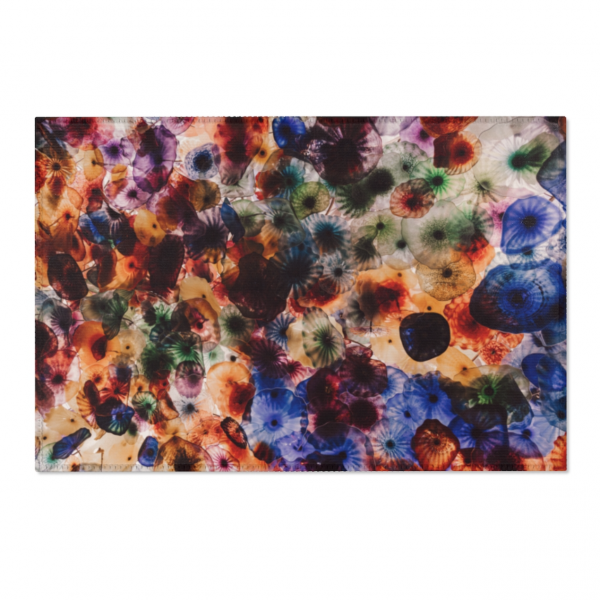 Psychedelic Jellies Area Rugs